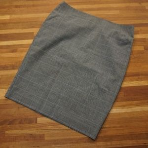 Club monaco high waisted plaid pencil skirt
